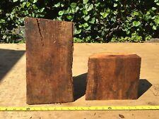 "Two Reclaimed Wax Sealed Curly Koa Wood Bowl Blanks 2@7-12""x6-8x2-3"""