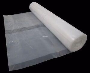 4 METRE WIDE CLEAR POLYTHENE PLASTIC SHEETING HEAVY DUTY 250 MICRON / 1000 GAUGE