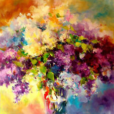 """Beautiful flower oil painting handmade oil on canvas for wall decoration 30x30"""""""