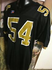 Vtg 80-90s BLACK gold FOOTBALL #54 JERSEY Russell men 2XL XXL New Orleans Saints