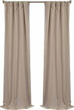 "Half Price Drapes Faux Linen Curtain Panel - Latte - Size:84""x50"""