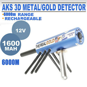 Metal Detector AKS 3D Metal Sonda di profondità 6000M Digger Detector blu 12V
