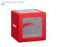DS SUPREME ILLUSION COIN BANK BOX LOGO IN HAND!