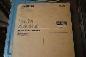CAT Caterpillar 140G Motor Grader Parts Manual Book catalog spare list road 1999