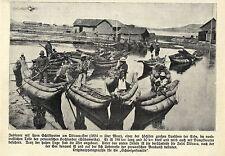Indios con schilfbooten el titicaca-see (perú) histórica grabación 1908