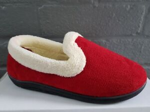 SLIPPERS LADIES - EX-PADDERS - REPOSE RED - SIZE 7  - BRAND NEW