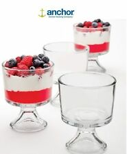 Anchor Hocking Quality Glass Mini Dessert Ice Cream Trifle Bowls - Set Of 4