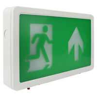 Emergency Fire Exit Overdoor Sign LED Light Box Maintained Up / Down Arrow Green