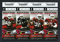 2012 NFL SEAHAWKS @ CARDINALS FOOTBALL TICKET SHEET - RUSSELL WILSON FIRST GAME