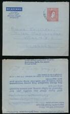 CEYLON to HUNGARY AEROGRAMME 50c STATIONERY 1964