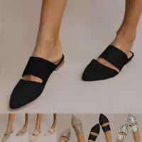 Summer Women's Gifts Pointed Toe Sandals Mules Shoes Flat Casual 2019