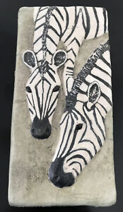 NEWCOMB COLLEGE ART POTTERY EARLY GLAZED TILE ANIMAL SERIES LARGE