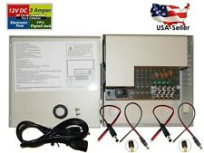 4 Channel CCTV 12V DC Distributed Power Supply Box with PTC Fuse, Auto Reset