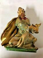 Re Magio Mulatto Personaggio Presepe Decorazione Natalizia Natale Dipinto A Mano