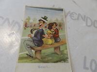 Tarjeta Postal Época Ilustrado Bonita Juego De Fútbol Shipped 1952