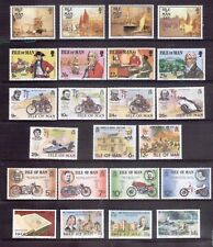 ISLE OF MAN five 1970s sets & one 1988 set all MNH