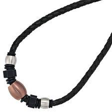 Modeschmuck-Halsketten aus Leder und Edelstahl für Damen
