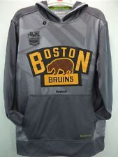 Boston Bruins Reebok NHL Grey Winter Classic 2016 PlayDry Hoodie Sweatshirt M