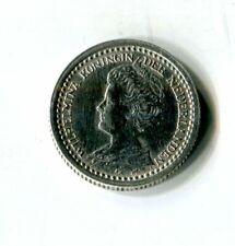 10 Cents Niederlande 1921 Wilhelmina Silber M_813