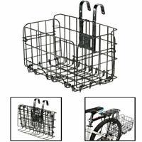 Bicycle Storage Basket Folding Metal Wire Handlebar Basket for Front