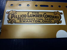"""Pilliod Lumber Company Emblem"" for Vintage Machinist Chest"