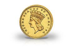 1 Dollar Goldmünze 1856-1889 USA Large Indian Head