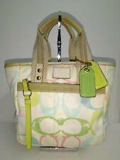 Coach Multiple Colors Signature C Canvas Small Tote Handbag Purse