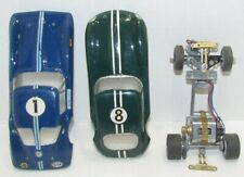 2 Vintage 1:24 Scale Slot Car Bodies with a Cox Chassis, Stingray & Jaguar