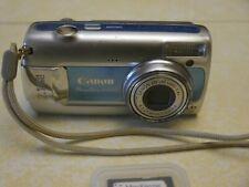 Canon PowerShot A470 7.1MP W/ 4GB SD card Digital Camera - Blue