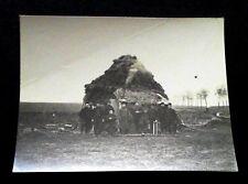 Photo 1914-1918 groupe de soldats campement WW1 French postcard soldiers camp