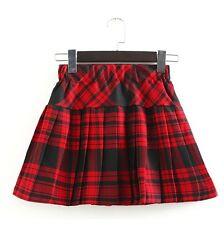Girl Kids JK Uniform School Pleated mini Skirt Women's Plaid Skirts Costume