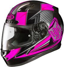 HJC CL-17 Full Face Helmet Striker Graphic MC8 Pink Size XS Snell M2015