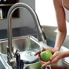 """2016 New 16"""" Pull-down Kitchen Sink Faucet Spray Swivel One Handle"""