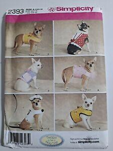 Simplicity Costume Pattern W0138// 8189 Dog Outfits Coats /& Hats Sz S M L  FUN!