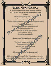 Powerful Protection Black Cord Binding Spell Wicca Book of Shadows Poster