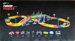 Autorennbahn Leuchtend für Kinder, Magic Trucks Twister Tracks Starter Set