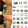 Bohemia Feather Beads Long Design Dream Catcher Boho Earrings Women Jewelry