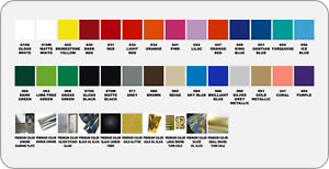 """Oracal 651 Vinyl 24""""x12"""" Ready for Cutting Ships from USA FAST! 38 Colors 6+yrs"""