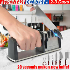 More details for kitchen knife sharpeners 4 stage manual knife sharpening tool w/ diamond coated