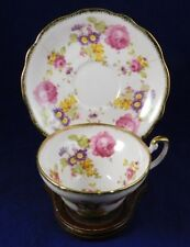 VINTAGE PINK  E.B. FOLEY Roses Tea Cup and Saucer