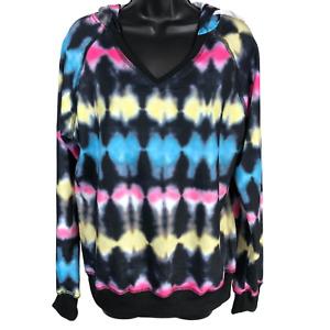 NWT Blooming Jelly Multicolor Tie-Dye Hooded Sweatshirt Women's Size Small
