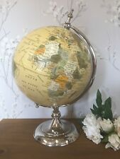 Desktop Globe chrome Ornament Table Decoration Shabby Vintage Chic Gift Home