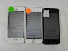Lot of 3 Apple iPhone 5s/SE TracFone Check IMEI Good Condition RS076