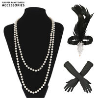 1920S 20S GATSBY CHARLESTON FLAPPER FANCY ROBE ACCESSOIRES POUR COSTUME KIT