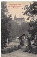 uralte AK Schwankender Steg und Schloß Rochsburg im Muldentale Feldpost 1916//06