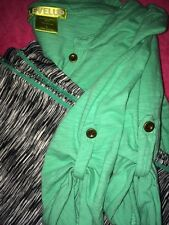 Junior☆LevelUp☆(2PC)☆Teal☆Top☆&☆Black/White☆Pants☆TagSize☆Large☆Fits☆Like☆SM/MED