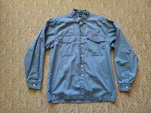 EUC Rare Simms Men's Mangrove Cay ClubLong Sleeve Fly Fishing Shirt Blue Large L