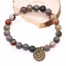 UK Men Natural Stone Crystal Surfer Tribal Style Yoga Bracelet for Ladies Women