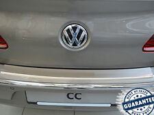 VW PASSAT CC 2008-11 Rear Bumper Profiled Protector Stainless Steel Scuff Cover