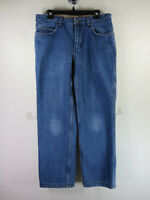 Duluth Trading CO mens dark wash flannel lined Ballroom work jeans 32x30 EUC